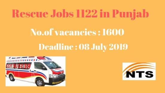 Rescue Jobs 1122 -Punjab Emergency Service [2019]