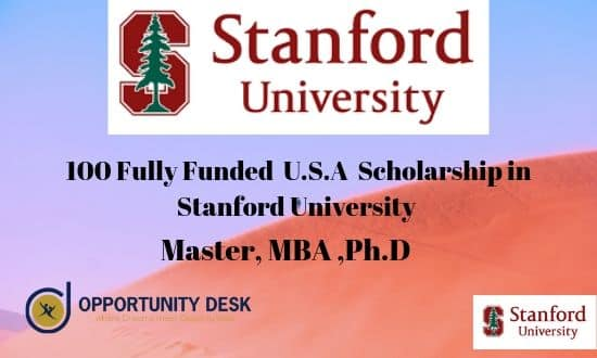 Stanford University Scholarship 2019-2020 [ 100-Fully Funded ]