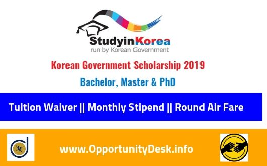 South Korea Government Scholarship 2020 Fully Funded
