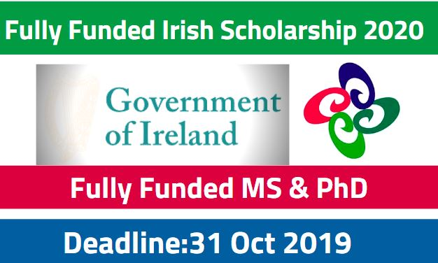 Government of Ireland Masters & PhD Scholarship Programme