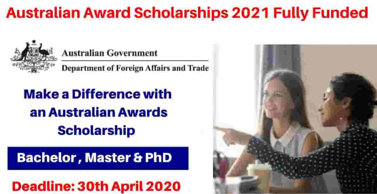 Australia Awards Scholarships 2021 (Fully Funded) – Study ...