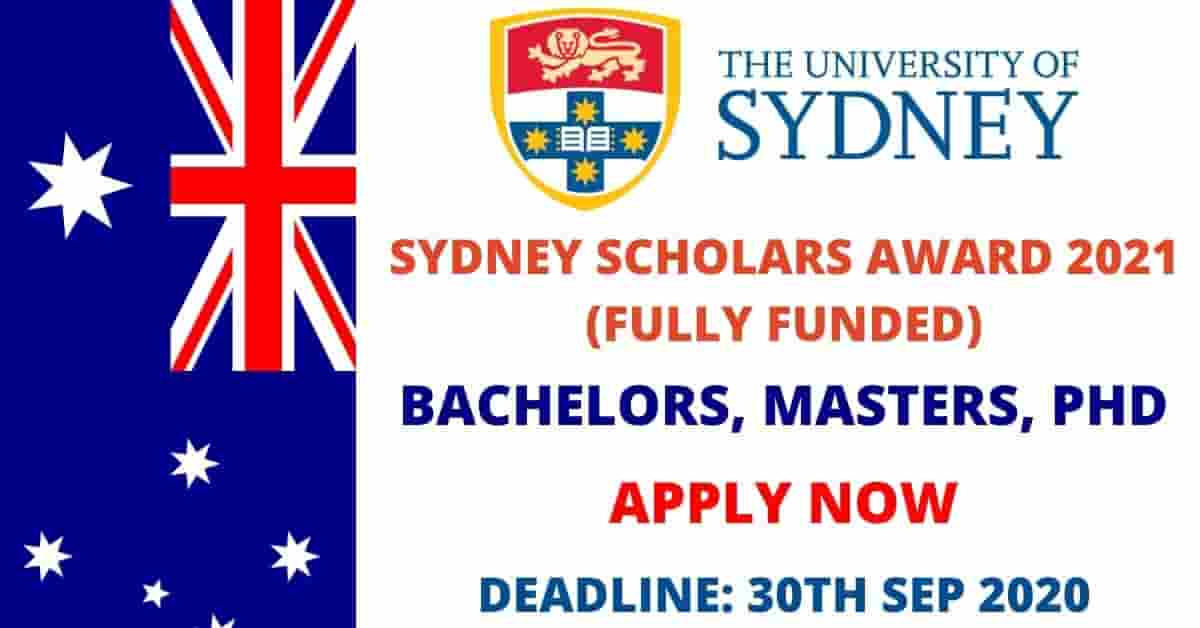 Sydney Scholarships for International Students 2021 ...